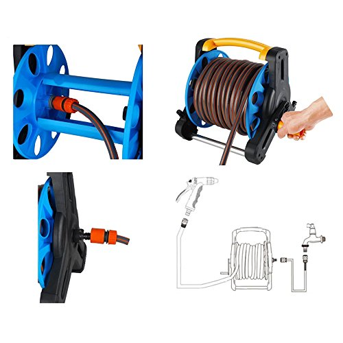 Wall-Mount-Portable-Rotating-Water-Hose-Reel-Cart-with-Bracket-Holder-by-MUITOBOM-0-2