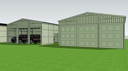 Weizhengheng-WZH-Three-Car-Metal-Garage-Building-Kit-Size303012-0-1