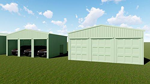 Weizhengheng-WZH-Three-Car-Metal-Garage-Building-Kit-Size303012-0