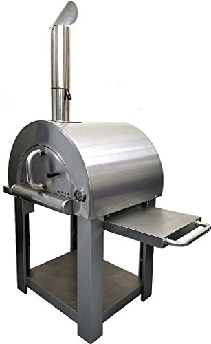 Western-Pacific-Pizza-Oven-Outdoor-Artisan-BBQ-Wood-Fired-Stone-Bake-31-Inch-W-Commercial-Stainless-Steel-Cooking-Accessories-Cover-Model-SYM01-0