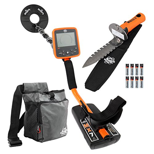 Whites-MX7-Metal-Detector-Bundle-Digmaster-Digger-Pouch-95-Search-Coil-0