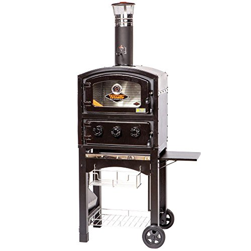 Wood-and-Charcoal-Fired-Oven-and-Smoker-in-Black-0