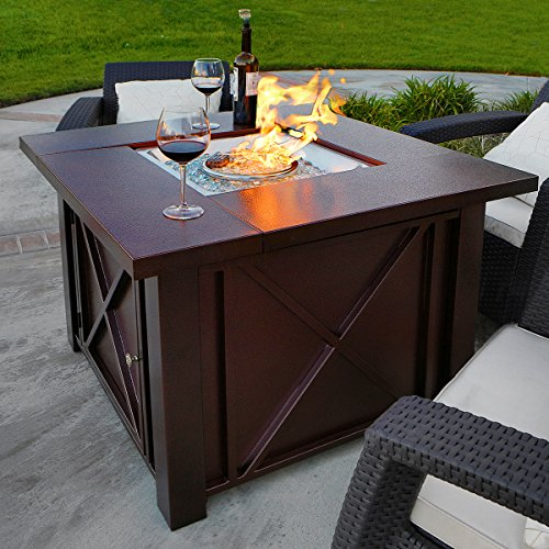 XtremepowerUS-Out-Door-Patio-Heaters-LPG-Propane-Fire-Pit-Table-Hammered-Bronze-Steel-Finish-Deluxe-0-0