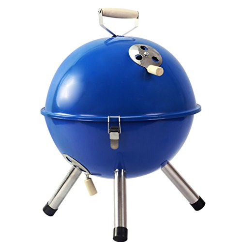 YI-HOME-BBQ-Outdoor-Round-Barbecue-Mini-Portable-Charcoal-Grill-Tools-Home-Garden-With-Lid-3-5-People-2232Cm-0-0