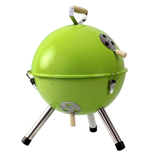 YI-HOME-BBQ-Outdoor-Round-Barbecue-Mini-Portable-Charcoal-Grill-Tools-Home-Garden-With-Lid-3-5-People-2232Cm-0