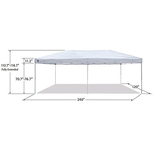 Z-Shade-20-x-10-Foot-Everest-Instant-Canopy-Camping-Outdoor-Patio-Shelter-White-0-2