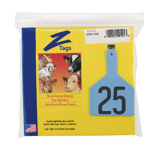 Z-Tags-1-Piece-Pre-Numbered-Hot-Stamp-Tags-for-Cows-Numbers-from-76-to-100-Blue-0