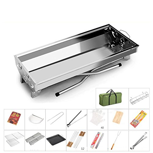 ZZ-aini-Charcoal-Grills-Stainless-Steel-Portable-Folding-BBQ-Camping-Picnicking-Outdoor-Barbecue-0-2