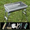ZZ-aini-Portable-Charcoal-Grills-Stainless-Steel-BBQ-Outdoor-Barbecue-Smokers-Picnicking-Camping-0-0