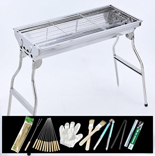 ZZ-aini-Portable-Charcoal-Grills-Stainless-Steel-BBQ-Outdoor-Barbecue-Smokers-Picnicking-Camping-0-1