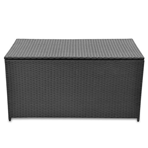vidaXL-Garden-Storage-Chest-Poly-Rattan-Bench-Cabinet-Box-Organizer-2-Colors-0-1