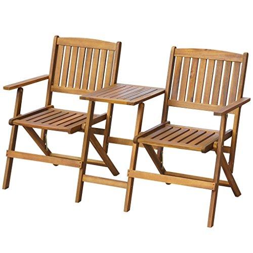 vidaXL-Patio-Solid-Acacia-Wooden-Folding-Bench-Table-Garden-Balcony-2-Seats-0
