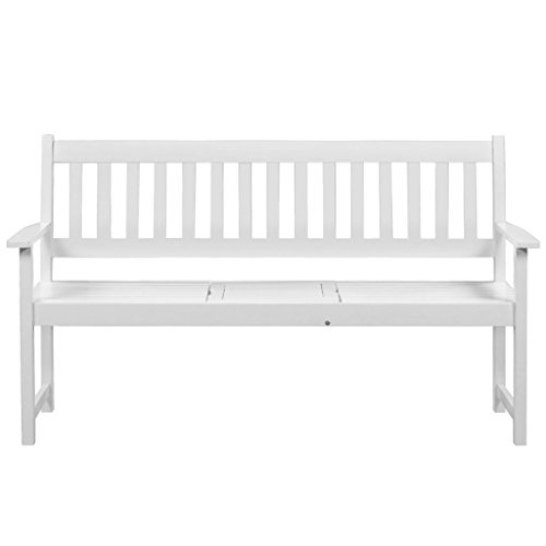 vidaXL-Solid-Acacia-Wood-Patio-Garden-Bench-Integrated-Table-Outdoor-White-0-1