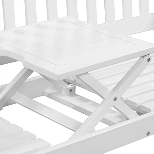 vidaXL-Solid-Acacia-Wood-Patio-Garden-Bench-Integrated-Table-Outdoor-White-0-2