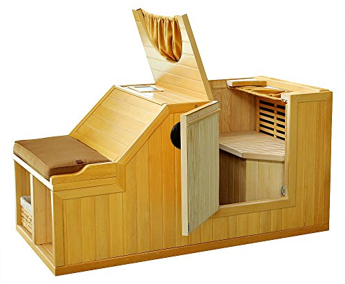 1-Person-Half-Sauna-FIR-FAR-Infrared-Heat-7-Carbon-Heaters-141-Degrees-120V-Hemlock-Wood-Portable-0-0