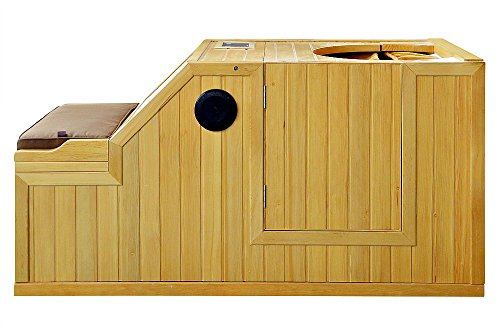 1-Person-Half-Sauna-FIR-FAR-Infrared-Heat-7-Carbon-Heaters-141-Degrees-120V-Hemlock-Wood-Portable-0-1