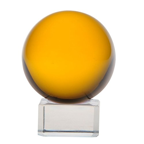 1-pc-100mm-Asian-Feng-Shui-Orange-Color-Glass-Crystal-Ball-with-Clear-Glass-Stand-0