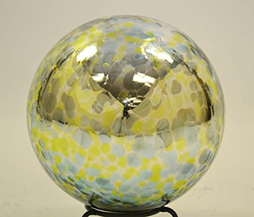 10-Inch-Glass-Garden-Gazing-Ball-Aqua-Lime-Spots-color-0