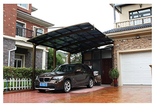 10-x-20-Feet-Metal-Carports-Canopies-Garage-Tent-Shelter-Gazebo-Aluminum-With-Gutter-And-Polycarbonate-Panels-Metal-RV-Carport-for-Car-Yacht-And-CopterDiagonal-Style-0