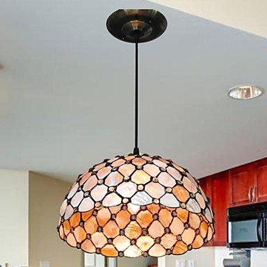 12-Inch-2-Lights-Shell-Material-Tiffany-Haning-Pendant-Light-0