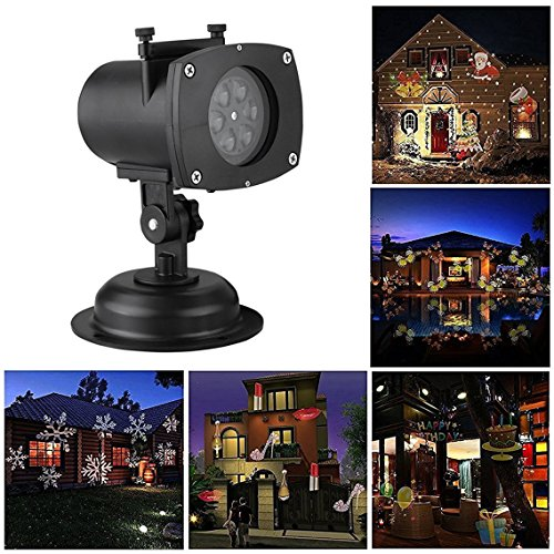 12-Patterns-Halloween-Projection-Light-LAFEINA-Birthday-Christmas-Projection-Light-12-Replaceable-Lens-12-Colorful-Patterns-Auto-Moving-Night-Lamp-for-Xmas-Wedding-Party-Garden-Decoration-0