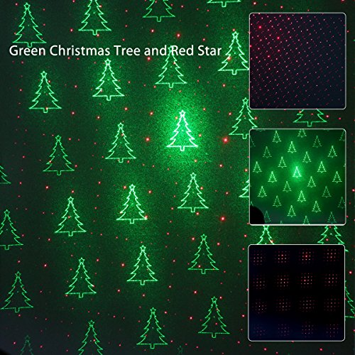 1byone-Christmas-Laser-lights-with-Green-Christmas-Tree-and-Red-Stars-0-1