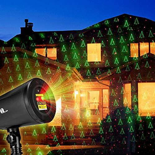 1byone-Christmas-Laser-lights-with-Green-Christmas-Tree-and-Red-Stars-0-2