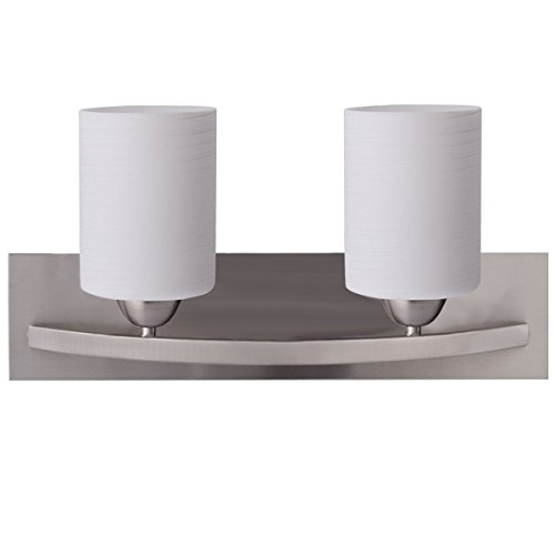 2-Light-Glass-Wall-Sconce-Pendant-Lamp-Shade-Cover-Fixture-Vanity-Metal-Bathroom-0-0