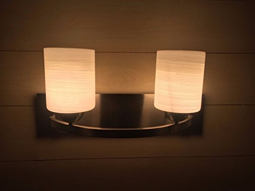 2-Light-Glass-Wall-Sconce-Pendant-Lamp-Shade-Cover-Fixture-Vanity-Metal-Bathroom-0-2