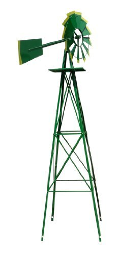 4-12-Decorative-Windmill-Green-with-Yellow-Tips-0