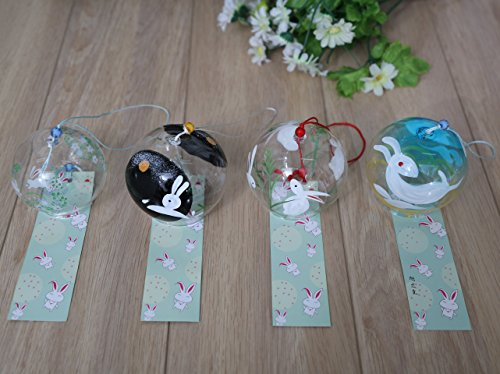 4-piece-Handmade-Japanese-Edo-Furin-Wind-Chimes-Suncatcher-Home-Living-Decor-Birthday-Gift-Fathers-Day-Christmas-Gift-Rabbit-0-1