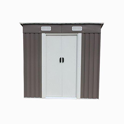 46-Outdoor-Steel-Metal-Garden-Storage-Shed-Tool-House-WSliding-Door-0-0