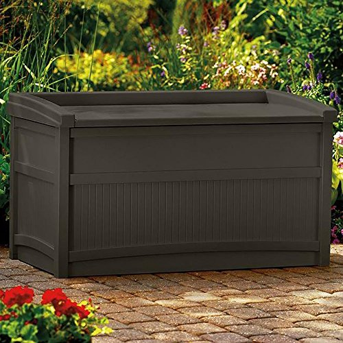 50-Gallon-Java-Resin-Storage-Seat-Deck-Box-Made-of-Durable-Weather-Resistant-Resin-Overlapping-Lid-Prevents-Water-From-Entering-Fade-Dent-Chip-Peel-Resistant-Handles-Wheels-for-Portability-0-0