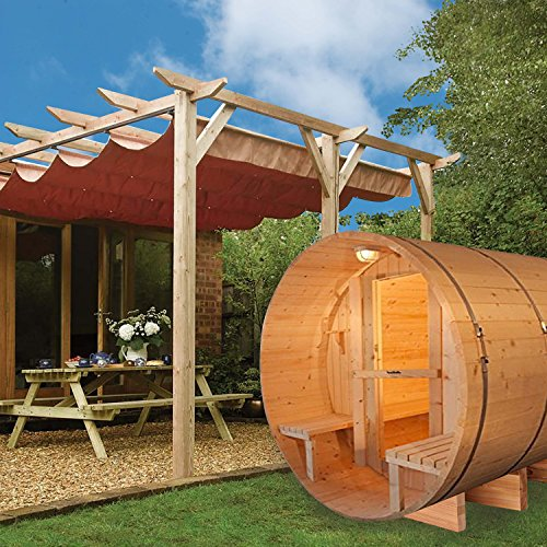 ALEKO-SB5CEDARCP-Rustic-Red-Cedar-Indoor-Outdoor-Wet-Dry-Barrel-Sauna-Steam-Room-Front-Porch-Canopy-45-kW-ETL-Certified-Heater-5-Person-71-x-72-x-75-Inches-0-0