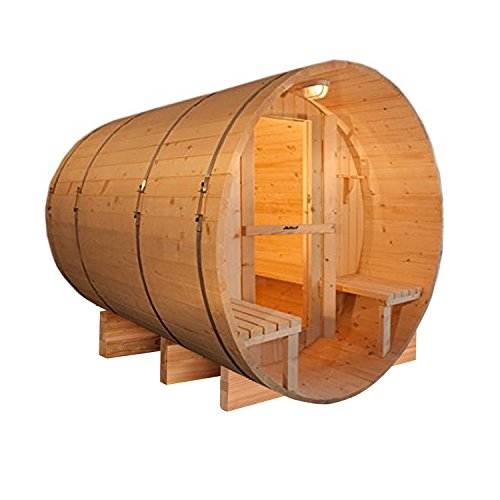 ALEKO-SB5CEDARCP-Rustic-Red-Cedar-Indoor-Outdoor-Wet-Dry-Barrel-Sauna-Steam-Room-Front-Porch-Canopy-45-kW-ETL-Certified-Heater-5-Person-71-x-72-x-75-Inches-0