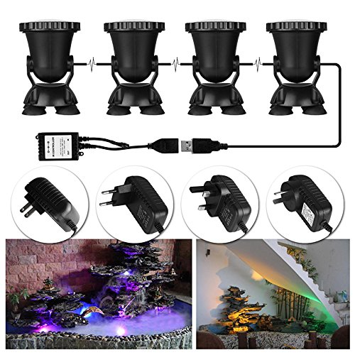 ALLOMN-4pcs-Remote-Control-RGB-36-LED-Underwater-Projector-Spotlight-Submarine-Light-IP68-Waterproof-for-Garden-Landscape-Park-Rockery-Pool-Pond-Corridor-Fish-Tank-Aquarium-0