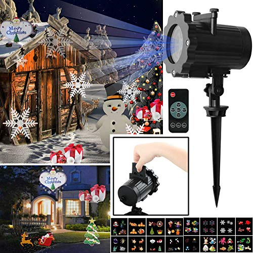 AMILE-Halloween-Christmas-Projector-Lights-Rotating-LED-Landscape-Lights-with-16PCS-Switchable-Lens-for-Easter-Birthday-Wedding-PartyChristmas-Halloween-Outdoor-and-Indoor-0