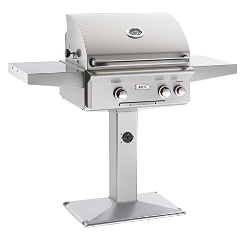 AOG-American-Outdoor-Grill-24NPT-00SP-T-Series-24-inch-Natural-Gas-Grill-On-Pedestal-0
