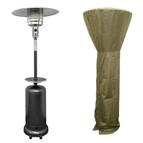AZ-Patio-Hammered-Silver-Tall-Patio-Heater-HLDS01-WCBT-with-87-Tall-Patio-Heater-Cover-Tan-0