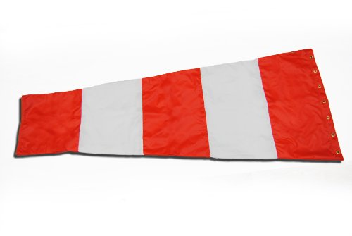 Airport-Windsock-Corporation-18-X-72-Orange-and-White-Replacement-Windsock-100-USA-Made-0