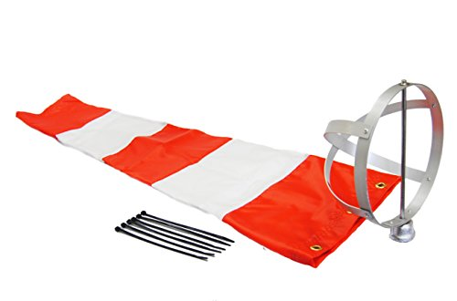 Airport-Windsock-Corporation-8-X-36-Orange-and-White-Windsock-and-8-Aluminum-Frame-Combo-USA-Made-0