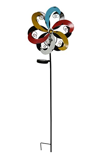 Alpine-Corporation-YCC212SLR-Solar-Metal-Windmill-with-Ball-Multicolor-0
