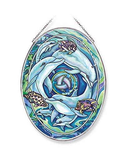 Amia-Dolphin-Planet-Glass-Suncatcher-Multicolor-0
