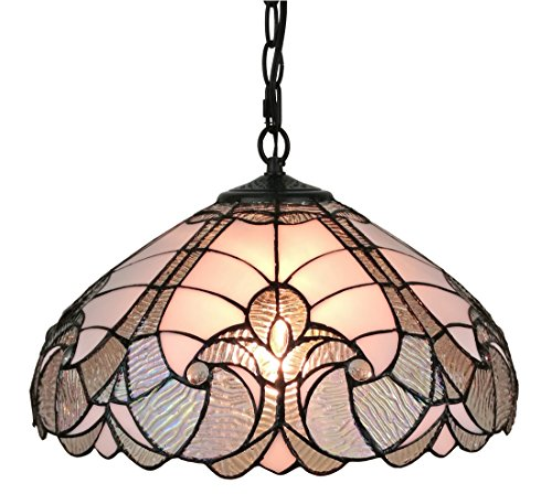 Amora-Lighting-AM297HL16-Tiffany-Style-White-Hanging-Lamp-16-Inches-Wide-16-0