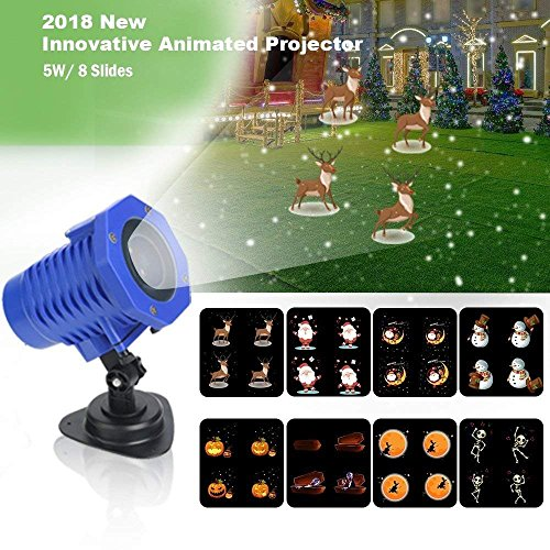 Animated-Projector-Lights-Waterproof-IP65Wireless-Remote-Control-Movie-Show-Projector-lampAuto-Timer-SpeedFlash-AdjustmentBest-Gifts-for-Christmas-Halloween-Holiday-Party-New-Year-0-0