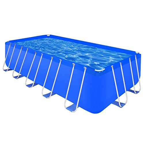 BLXCOMUS-Steel-Frame-Above-Ground-Swimming-Pool-Rectangular-Garden-Swimming-Folding-Pool-For-Kids-With-Size17-9-x-8-10-x-4-0