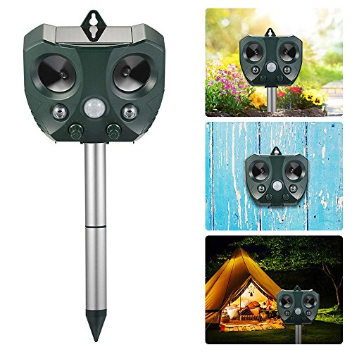Beatunes-2018-New-Solar-Powered-Ultrasonic-Animal-and-Pest-Repeller-Motion-Activated-Outdoor-Waterproof-Repellent-for-Dog-Cat-Bird-Squirrel-Rat-Vole-Raccoon-Fox-Rodent-etc-0-0