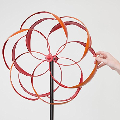 Bits-and-Pieces-Flower-Wind-Spinner-Magnificent-65-Inch-Weather-Resistant-Metal-Beautiful-Outdoor-Lawn-and-Garden-Dcor-0-1