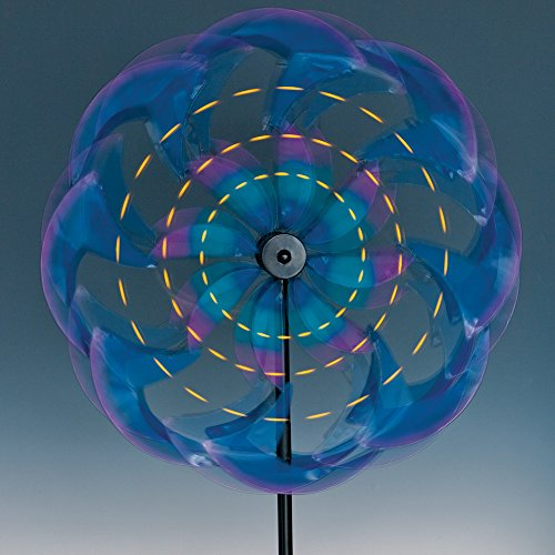 Bits-and-Pieces-Wind-Powered-LED-Sea-Breeze-Wind-Spinner-Decorative-Lawn-Ornament-Wind-Mill-Spectacular-Kinetic-Garden-Spinner-with-Light-Show-0-0