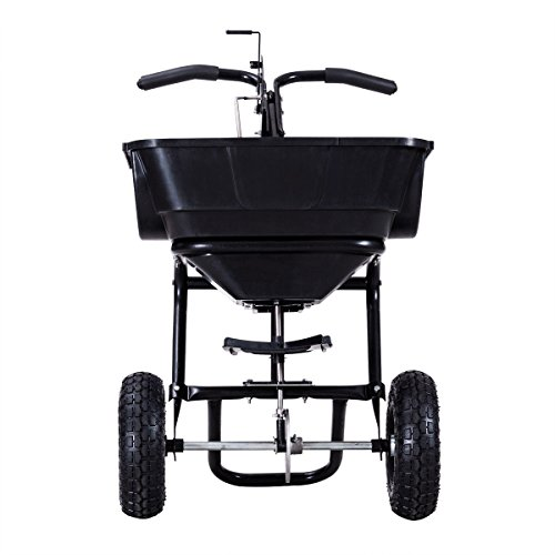 Black-Garden-Seed-and-Fertilizer-Push-Walk-Broadcast-Spreader-w-55-Lbs-Hopper-0